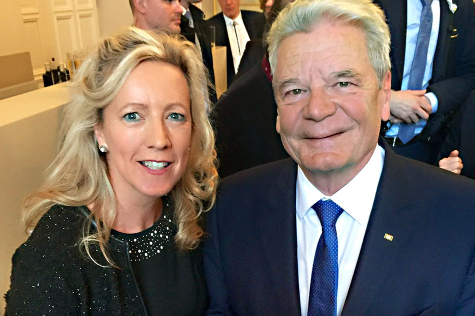 Dank Steffi Hahnl (1. Vorsitzende) kennt auch Bundespräsident Joachim Gauck unseren Verein.