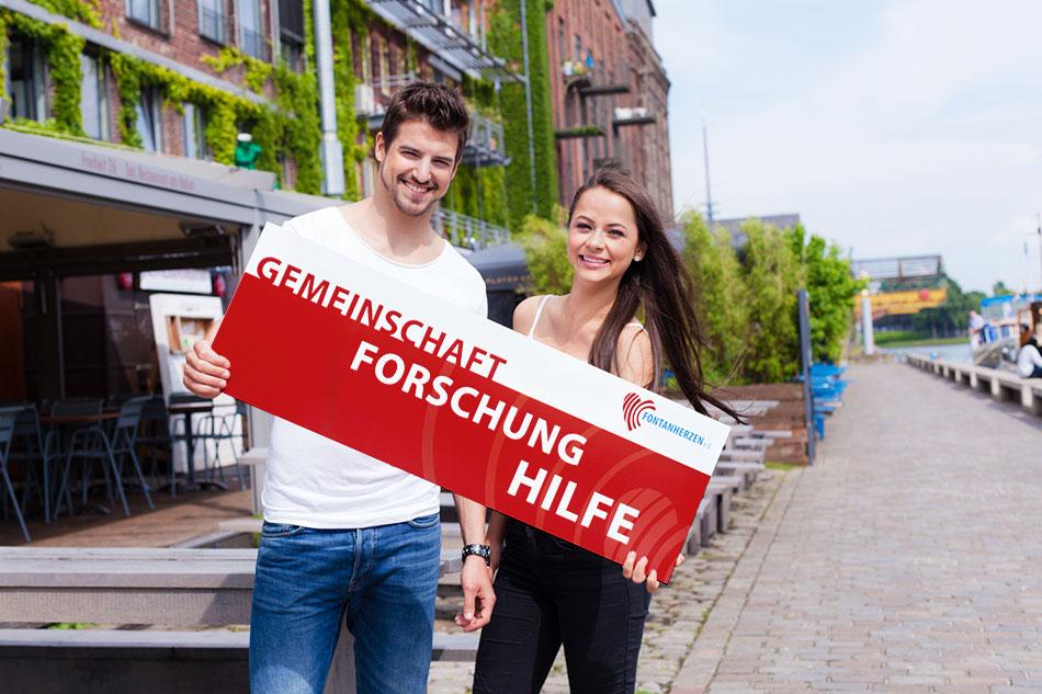Fontanherzen e. V.-Botschafter Florian Molzahn (Mister Germany 2016) und Mitglied Sabrina beim Foto-Shooting. Mehr unter Menüpunkt NEWS Foto: Nadine Rauß www.rauss-fotografie.de