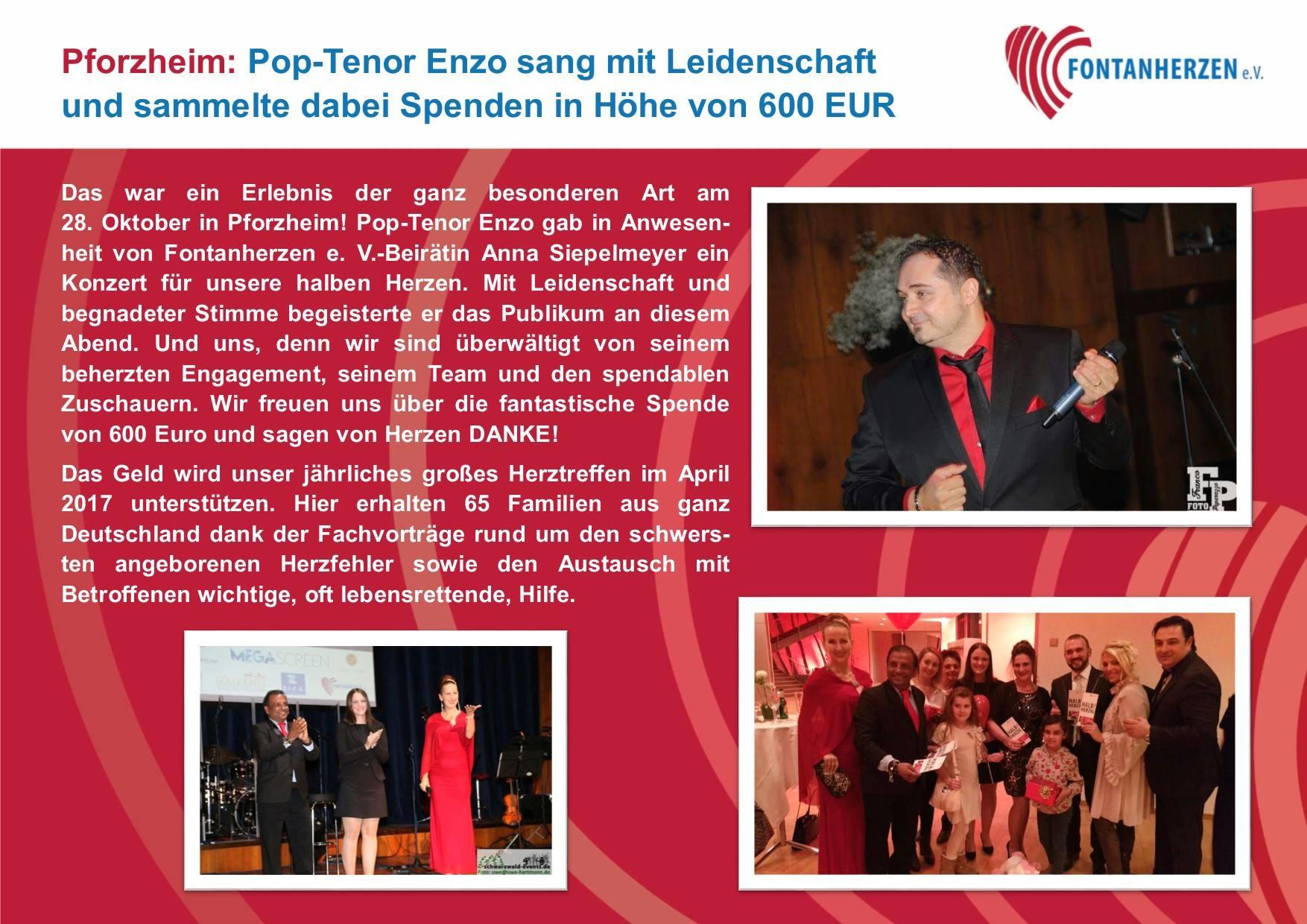 Pop-Tenor Enzo gab ein Konzert für unsere halben Herzen!