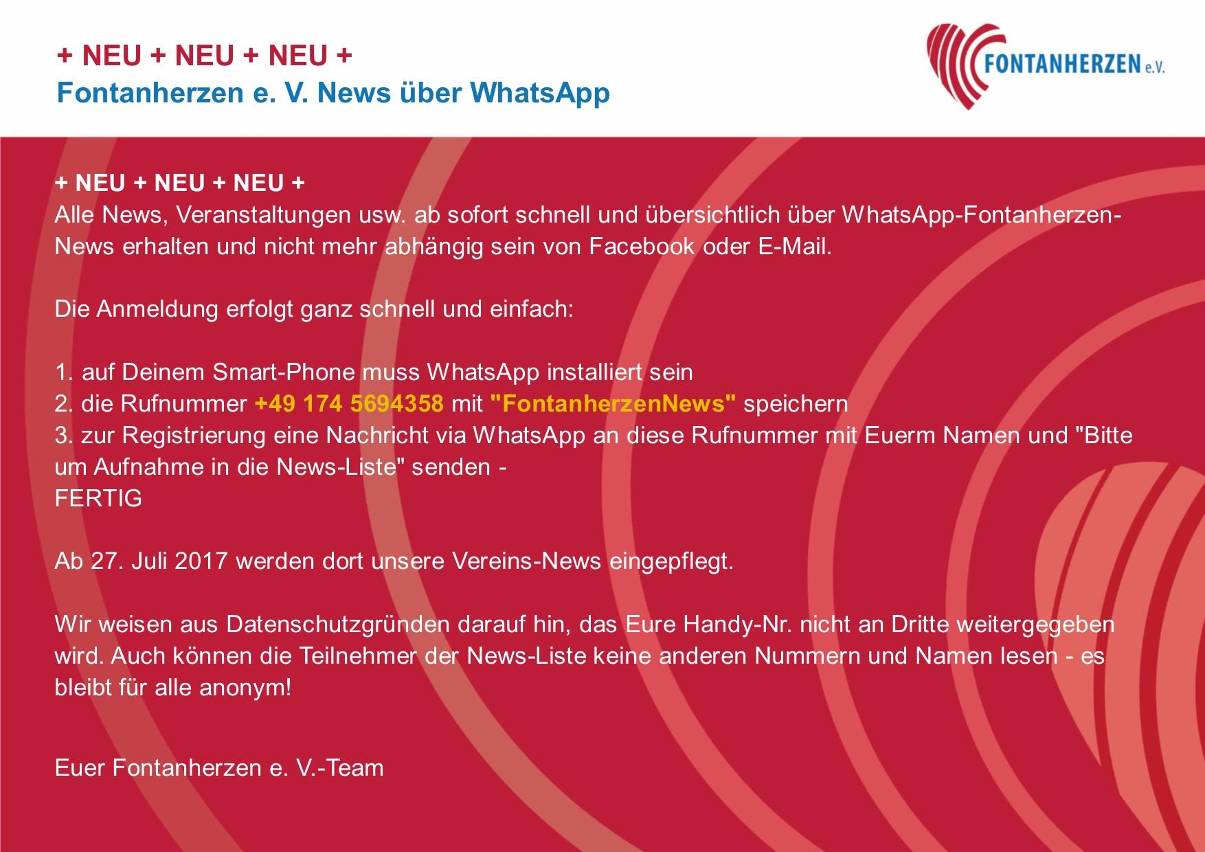 News über WhatsApp
