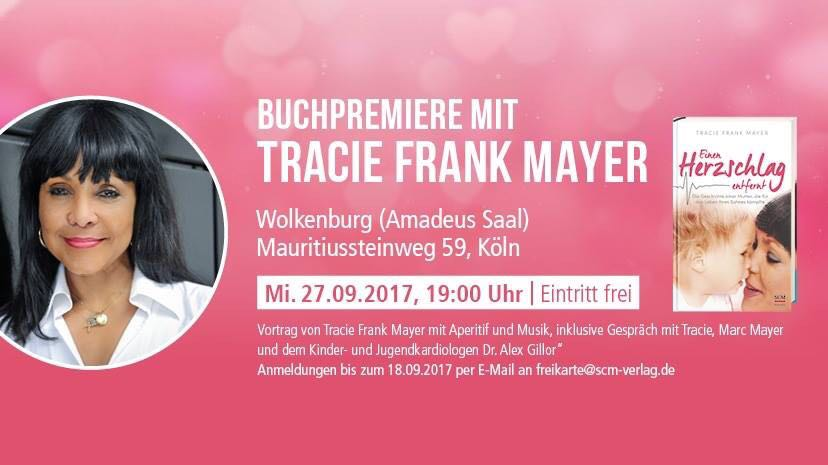 Buchpremiere mit Tracie Frank Mayer