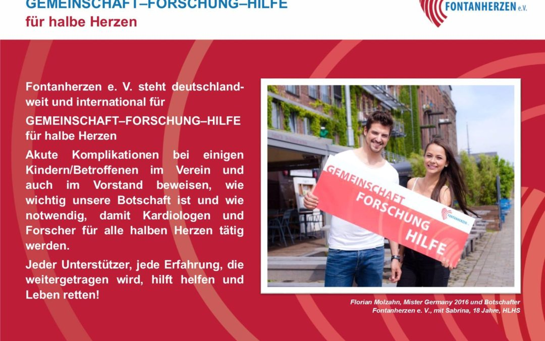 Mister Germany 2016 und Botschafter Fontanherzen